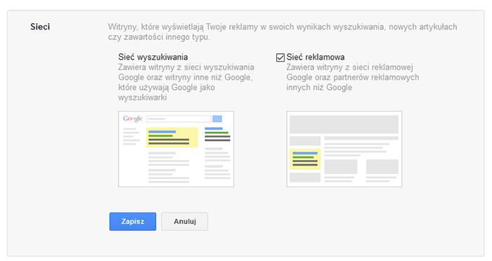 Sieci reklamowe i wyszukiwania