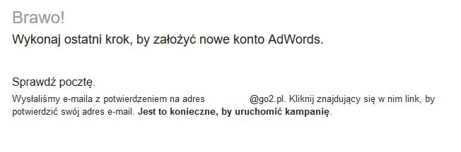 Założyłeś nowe konto AdWords