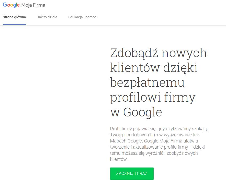 Google Moja Firma - jak założyć