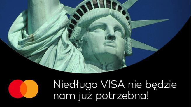tekst MasterCard do Visy