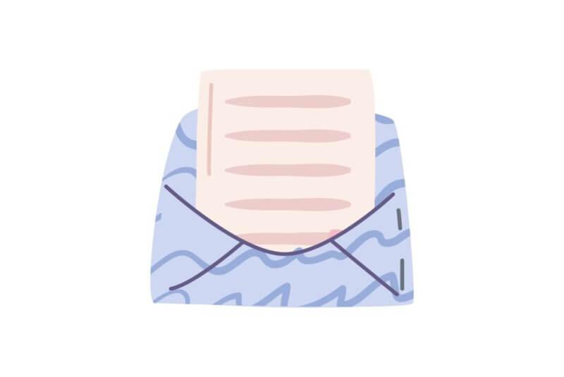 mała koperta z listem