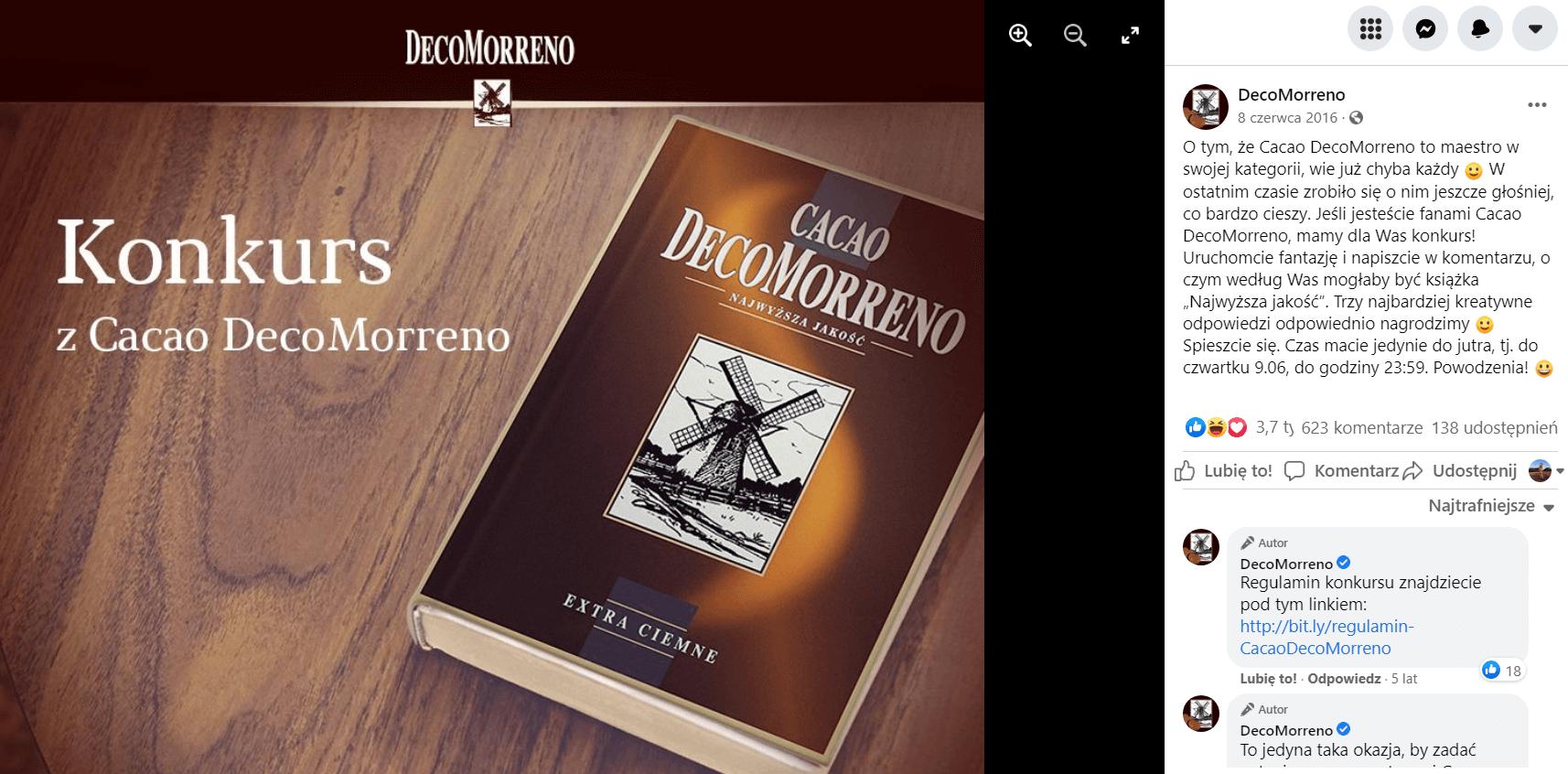 kakao DecoMorreno konkurs